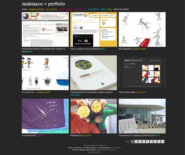 Captura de la página web laiablasco.com