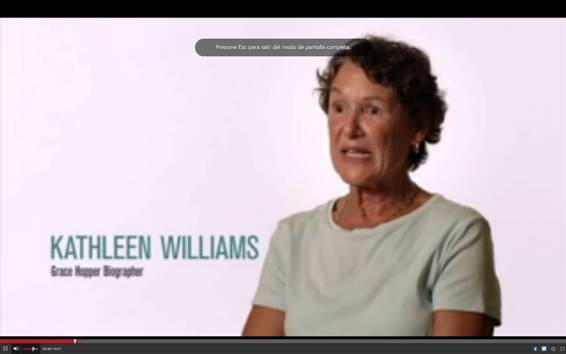 Kathleen Williams, biógrafa de Grace Hopper