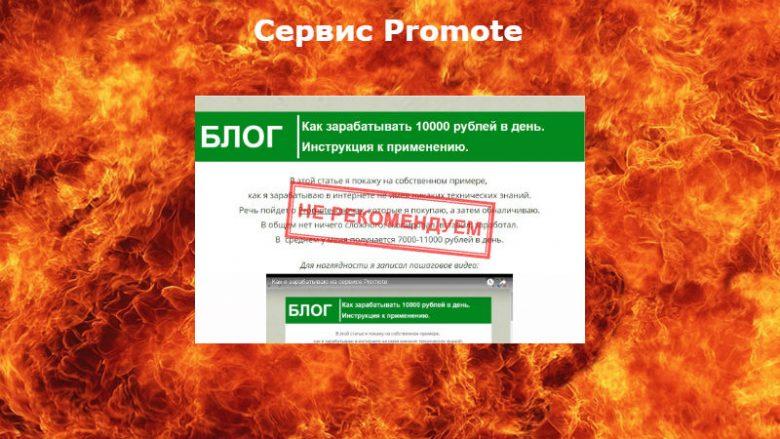 Сервис Promote можно ли зарабатывать 10000 рублей в день на покупке кодов?
