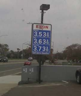 Remember the Old Days? These were the Gas Prices in Ocean Beach, March 12, 2008