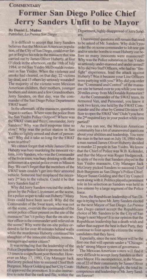 Editorial, La Prensa - Aug. 19, 2005