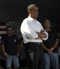 Senator Barack Obama at a town hall meeting on August 17. (Photo: AFP / Getty Images)