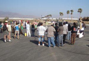 Protest near the U.S. Mexico border