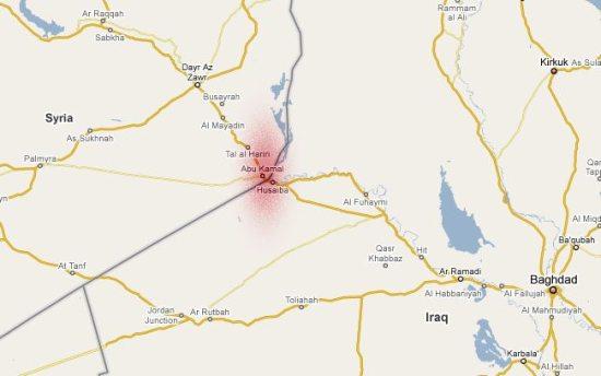 Iraq-Syria border region where U.S. incursion occurred. (google maps)