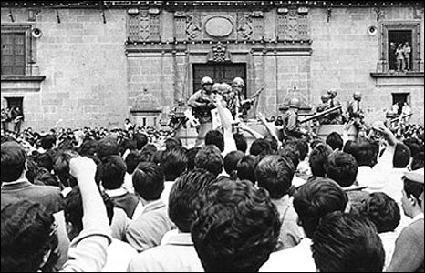 In late 1968, Mexico was getting ready to host the Olympics. But social tensions were also simmering.