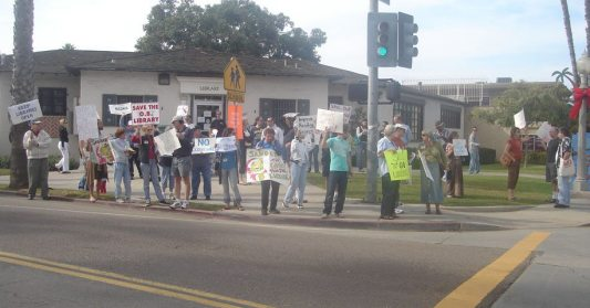 November 22, Citizens rally to save the Ocean Beach Library