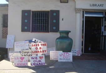 Ocean Beach Library - saved along with 6 other branches.