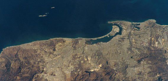 San Diego coast satellite