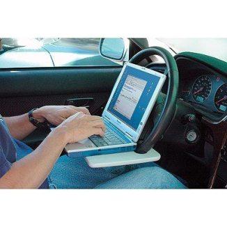 lap top steeringwheel