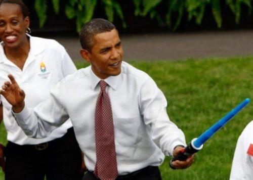 Obama with light sword