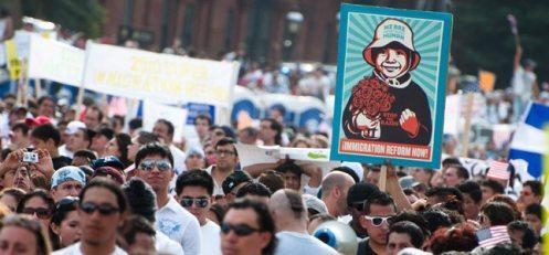 latinos mass rally