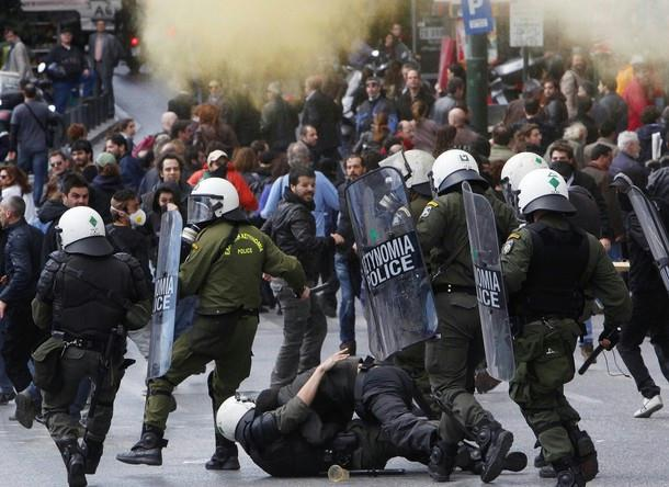 The ongoing riots in Greece where leftist protesters violently demand more welfare, freebies and government powers to rule them...
