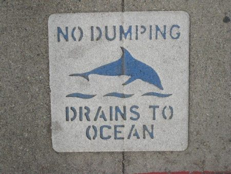 storm water no dump logo