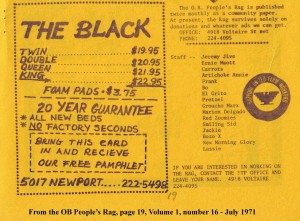 """The Black"" July 1971 OB Rag, page 19"
