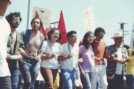 Chicano demo march
