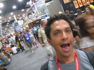 My buddy Alan on the ComicCon floor