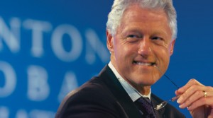 Bill Clinton with glasses