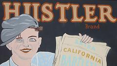 old-fashioned Hustler sign