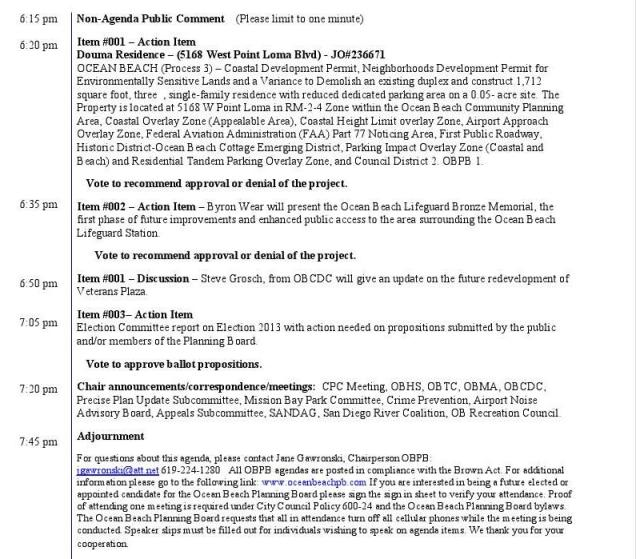 OB Plan Bd Agenda 2-6-13b