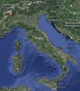 Italy - Ivrea map