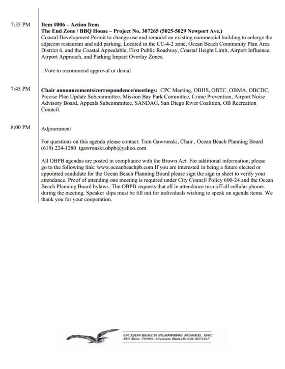 OB Plan Bd agenda 2pg 11-6-13