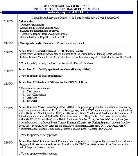 OB Plan Bd agenda 04-02-14
