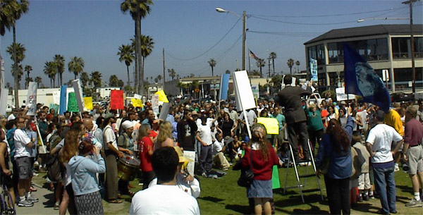 OB starbucks protest 3-25-01