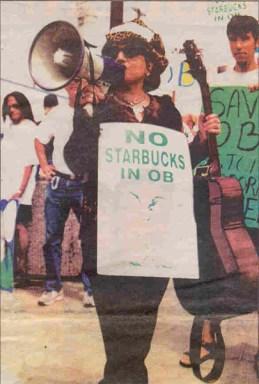 OB starbucks protest Rio