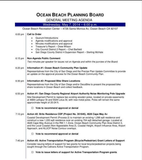 OB Plan Bd agenda 05-07-14a