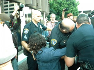Occupy SD arrest cops