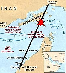 Iran airbus shotdown map