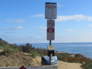 Pt Loma Park Regs sign