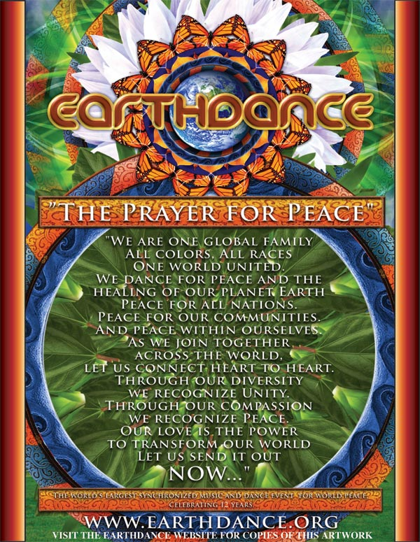 OB Earthdance prayer poster