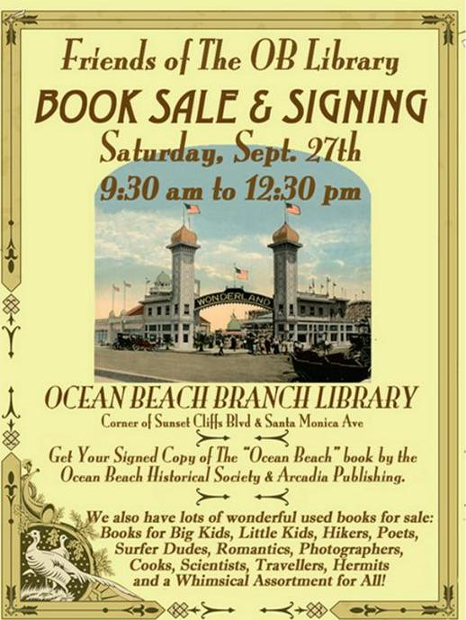 OB Friends Library poster sale 9-27-14
