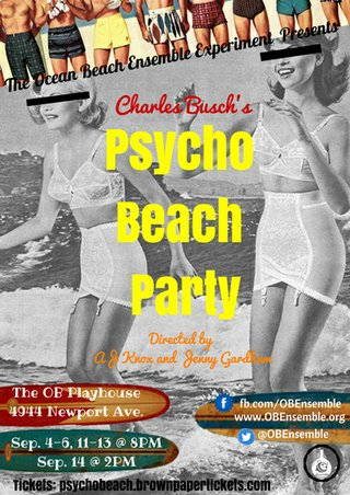 OB psycho beach party poster