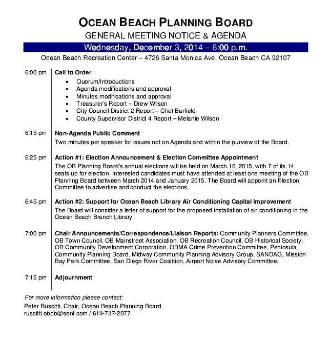 OB Plan Bd agenda 12-3-14