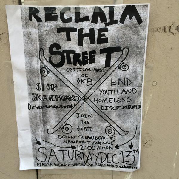 OB Skate Protest flier