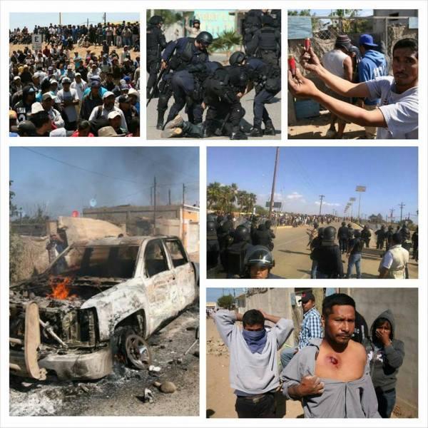 baja farmworkers clash May015