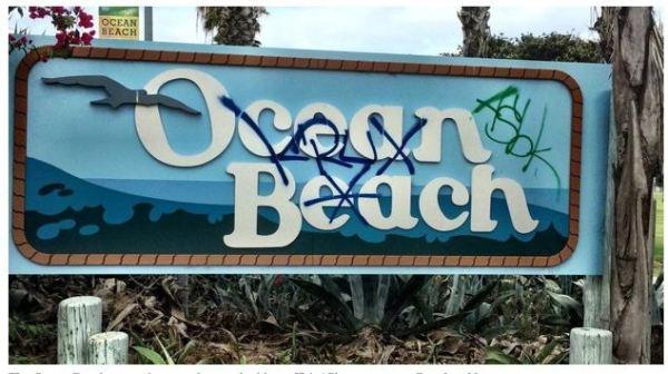 OB Entry Sign vand 1