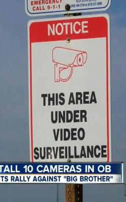 OB surveill cam Sign ed