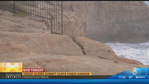 Sunset Cliffs crack Jan 2016