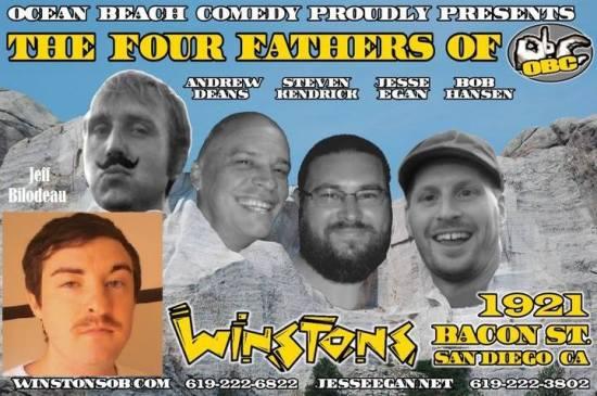 OB Comedy 4 fathers Postr
