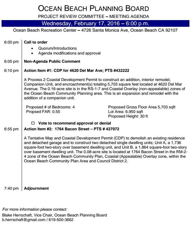 OBPB ProjRev Agenda 2-17-16
