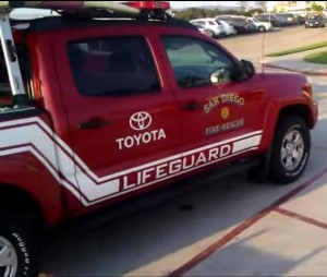 san diego lifeguard truck toyota