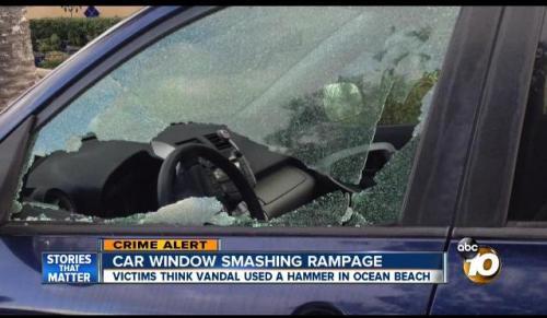 OB car windows smash 4-25-16