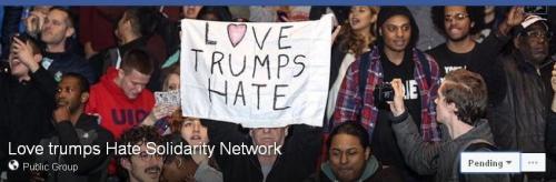 Trump Love trumps hate solid netwk fb -ed