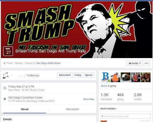 Screenshot of SmashTrump Facebook page