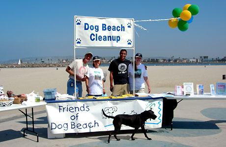 OB dog beach cleanup foto