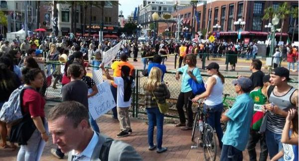 Trump SD protest FG the scene -ed