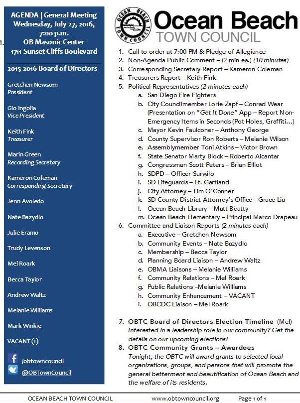 OBTC agenda 7-27-16